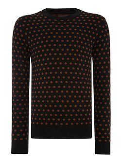 Kubrick Polka Dot Crew Neck Pull Over Jumpers