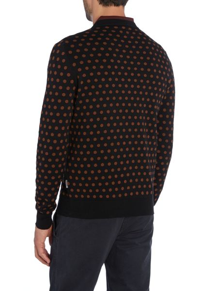 Peter Werth Kubrick Polka Dot Crew Neck Pull Over Jumpers