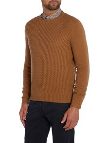 Dykan Pattern Crew Neck Pull Over Jumpers
