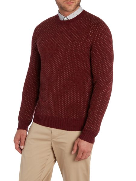 Peter Werth Stanley Pattern Crew Neck Pull Over Jumpers