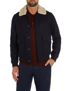 Caff Blouson Button Bomber Jacket