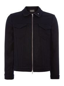 Peter Werth Duke Melton Full Zip Bomber Jacket