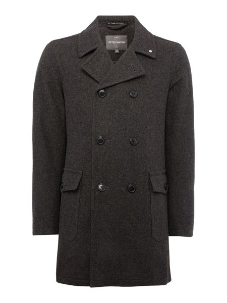 Peter Werth Walney Blake Button Pea Coat