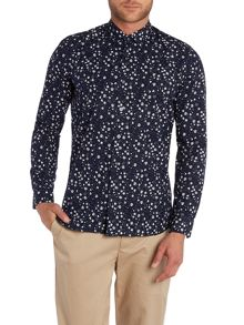 Peter Werth Rey Tonal Floral Slim Fit Long Sleeve Shirt
