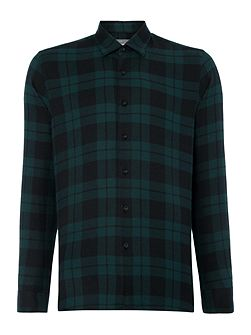 Outward Check Slim Fit Long Sleeve Button Down