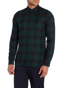 Peter Werth Outward Check Slim Fit Long Sleeve Button Down Sh