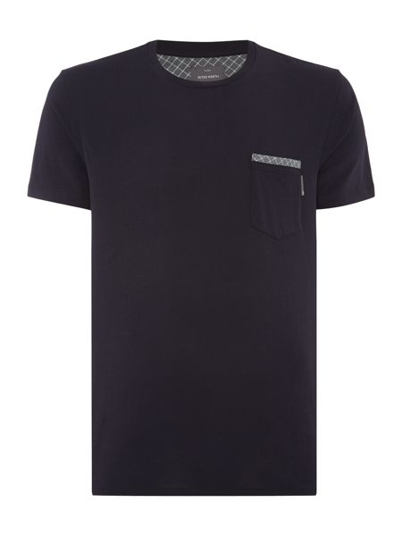 Peter Werth Edge Plain Crew Neck Slim Fit T-Shirt