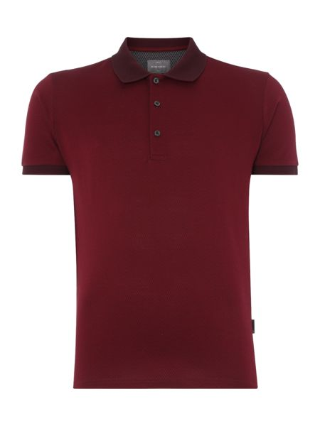 Peter Werth Iron Pattern Polo Slim Fit Polo Shirt