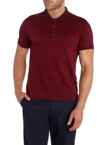 Iron Pattern Polo Slim Fit Polo Shirt