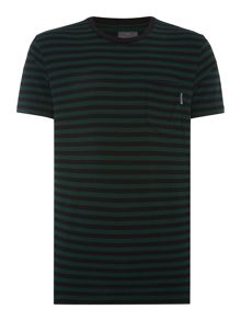 Peter Werth Steam Stripe Crew Neck Slim Fit T-Shirt