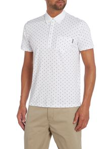 Grate Diamond Print Polo Slim Fit Polo Shirt