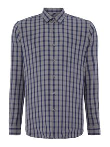 Peter Werth Royal Grid Check Slim Fit Long Sleeve Button Down