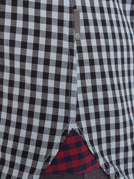 Peter Werth Trade Gingham Slim Fit Long Sleeve Button Down Sh