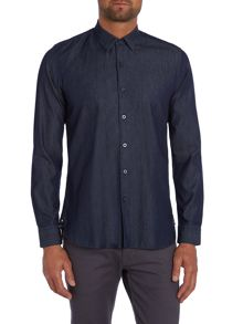 Peter Werth Textured Slim Fit Long Sleeve Button Down Shirt