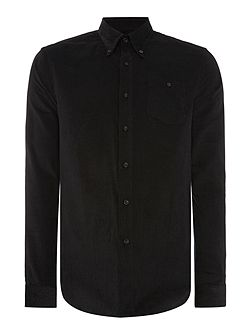 Toil Textured Slim Fit Long Sleeve Button Down