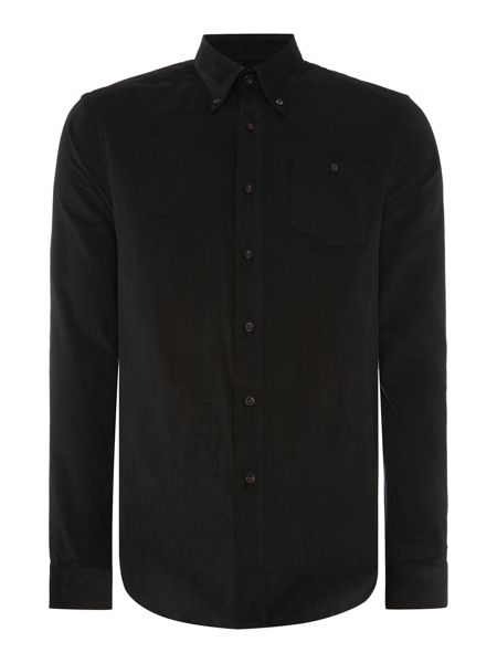Peter Werth Toil Textured Slim Fit Long Sleeve Button Down Sh