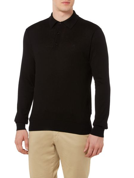 Peter Werth Hemingford Monro Fine Gauge Knitted Polo