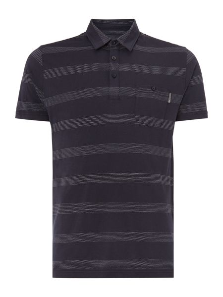 Peter Werth Terrace Wide Dot Stripe Polo Shirt