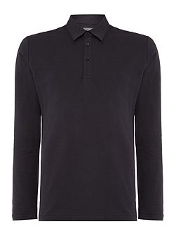 Pool Long Sleeve Pique Polo Shirt
