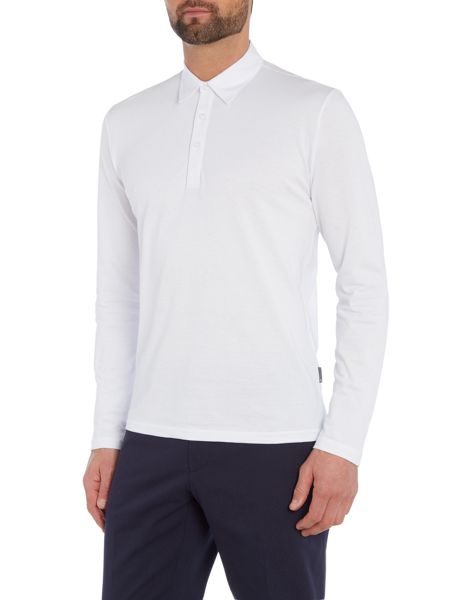 Peter Werth Pool Long Sleeve Pique Polo Shirt