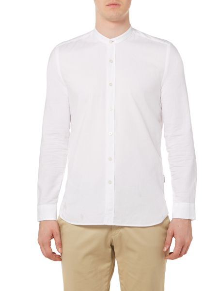 Peter Werth Hooper Oxford Grandad Collar Shirt