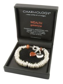 Wealth Goldstone Caterpillar Charm Bracelet