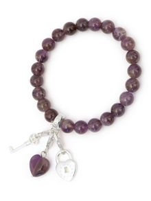 Charmology key to...peace amethyst charm bracelet