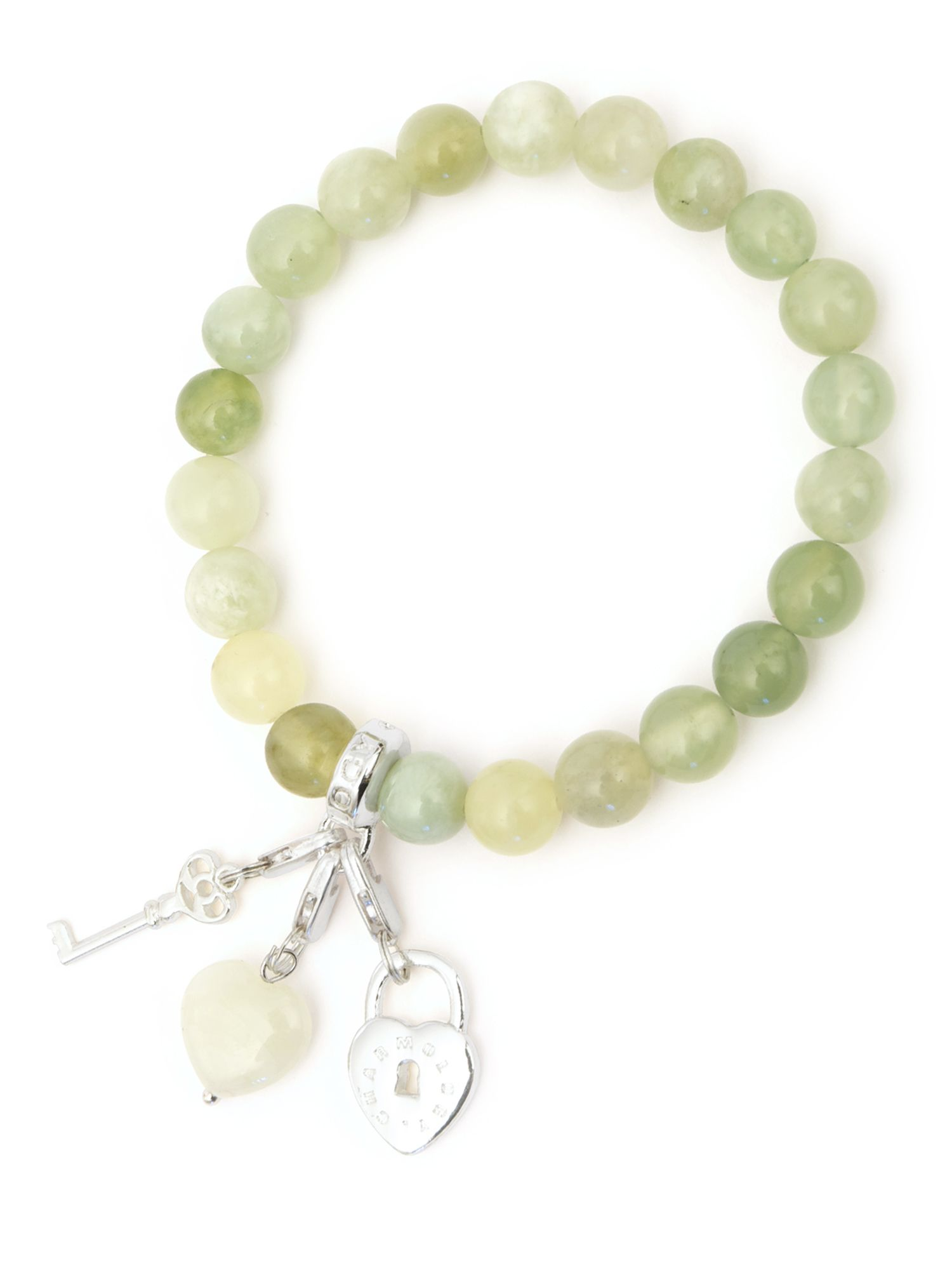 Charmology key to good luck jade charm bracelet