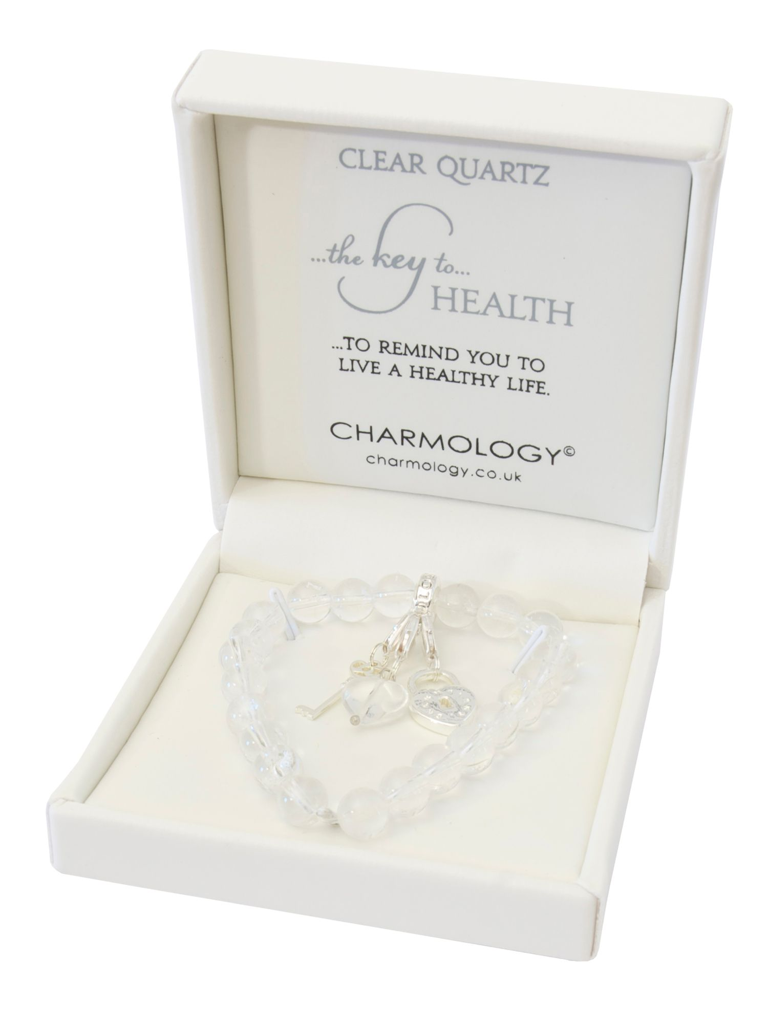 Charmology key to health quartz charm bracelet