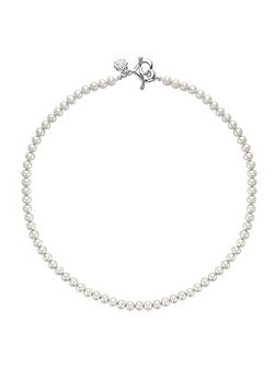 Silver Freshwater White Pearl Necklace