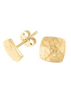 Nomad Gold Square Stud Earrings