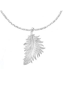 Small Feather Pendant Sterling Silver