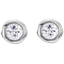 Dower & Hall Dewdrop Silver 5mm White Topaz Studs