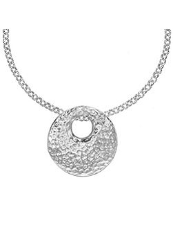 Nomad Silver Round Bean Pendant