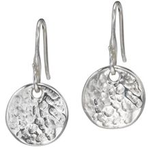 Dower & Hall Nomad Silver 13mm Disk Earrings