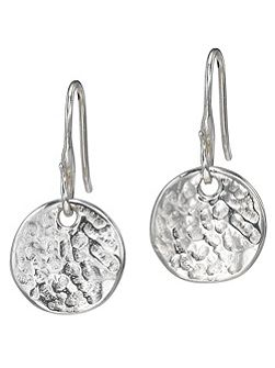Nomad Silver 13mm Disk Earrings