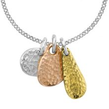 Dower & Hall Nomad Trio Silver And Gold Pendant