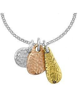Nomad Trio Silver And Gold Pendant