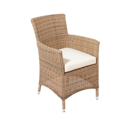 Cozy Bay Hawaii rattan armchair in four seasons with seat