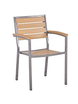Macchiato stackable syn teak bistro chair teak as