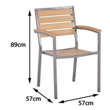 Sol Bistro Macchiato stackable syn teak bistro chair teak as