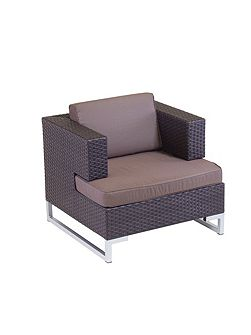 Manhattan rattan arm sofa single unit in cappucci
