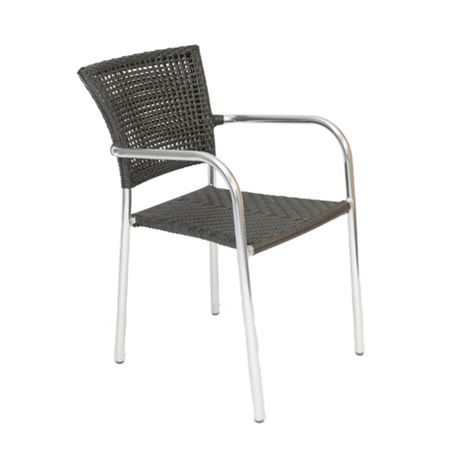 Sol Bistro Filtro stackable bistro grey rattan chair