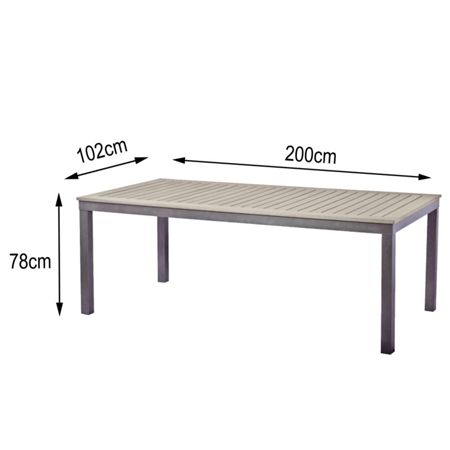 Sol Bistro Syn-teak 8-10 rectangular table dark walnut 200cm