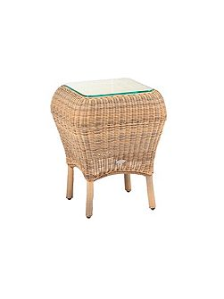 Jamaica rattan side table 4 seasons with glass