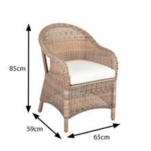 Cozy Bay Sicilia armchair with seat pad cushion