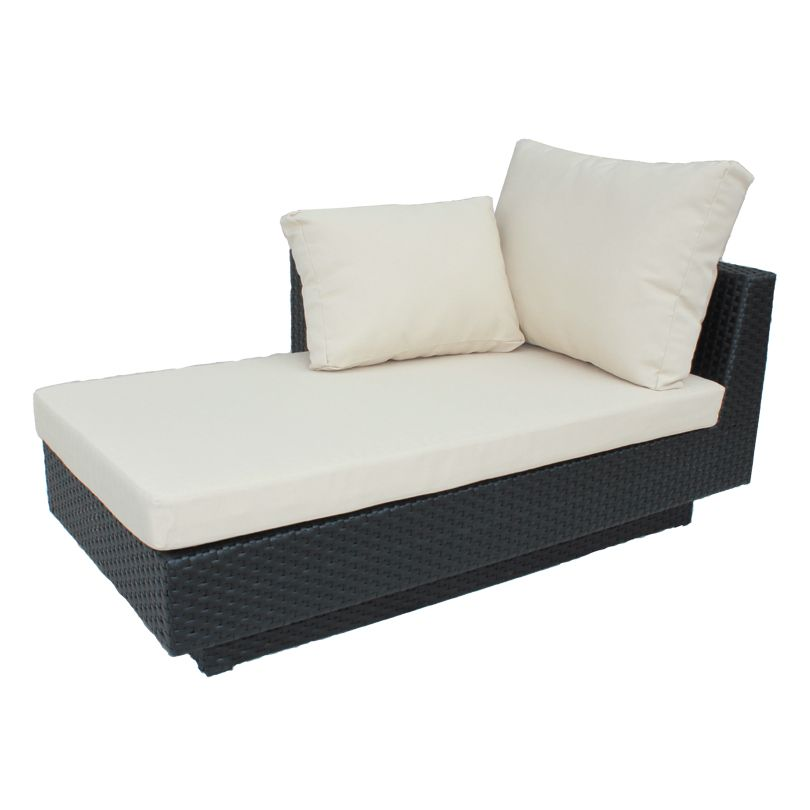 Cozy Bay Chicago lounger right with seat pad and back cush