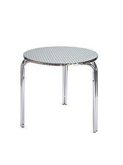 Aluminium round bistro table 80cm