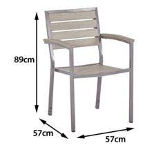Sol Bistro Macchiato stackable syn teak bistro chair dark wa