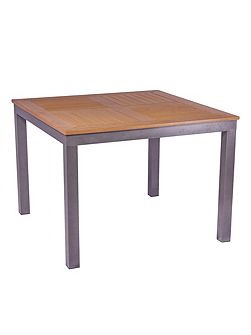 Syn teak square bistro table teak asian 100cm